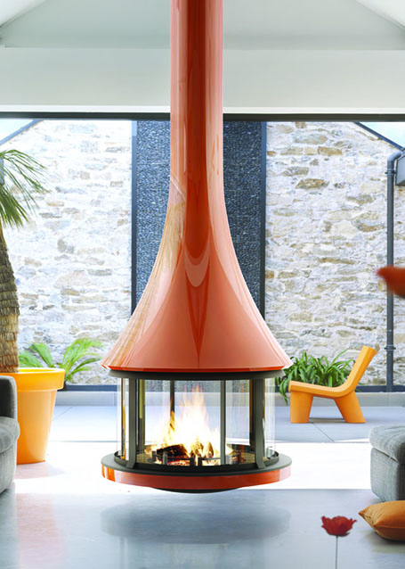 Zobel Bordelet Design-Kamin Zelia 908 orange